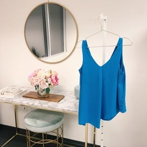 Zara Tops - Zara Blue Asymmetrical Tank Blouse